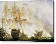 The Battle Of Trafalgar Acrylic Print by John Christian Schetky