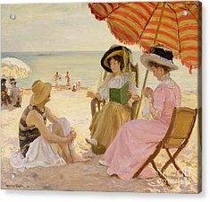 The Beach Acrylic Print by Alfred Victor Fournier