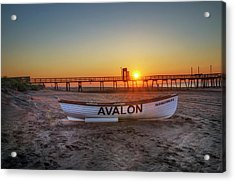 The Beach At Avalon 32nd Street Acrylic Print by Bill Cannon
