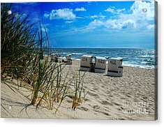 The Beach Acrylic Print by Hannes Cmarits