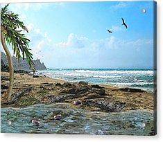 The Beach Acrylic Print by Tony Rodriguez