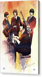 The Beatles 01 Acrylic Print by Yuriy  Shevchuk