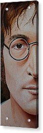The Beatles John Lennon Acrylic Print by Vic Ritchey