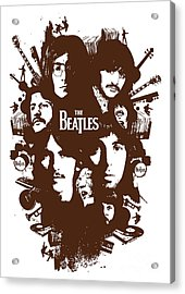 The Beatles No.15 Acrylic Print by Caio Caldas