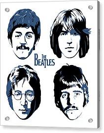 The Beatles No.18 Acrylic Print by Caio Caldas