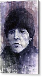 The Beatles Paul Mccartney Acrylic Print by Yuriy  Shevchuk