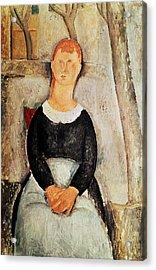 The Beautiful Grocer Acrylic Print by Amedeo Modigliani