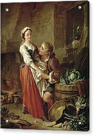 The Beautiful Kitchen Maid Acrylic Print by Francois Boucher