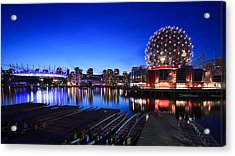 The Beautiful Vancouver Downtown And Science World Acrylic Print by Alan W