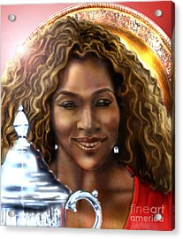 The Beauty Victory That Is Serena Acrylic Print by Reggie Duffie