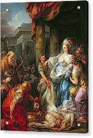The Beheading Of Cyrus IIi Acrylic Print by Jean Simon Berthelemy