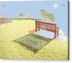 The Bench At The Edge Of The World Acrylic Print by Dan McCarthy