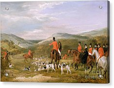 The Berkeley Hunt Acrylic Print by Francis Calcraft Turner