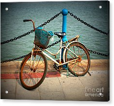 The Bicycle Acrylic Print by Carol Groenen