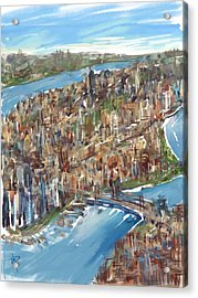 The Big Apple Acrylic Print by Russell Pierce