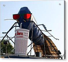 The Big Blue Bug Acrylic Print by Anne Babineau