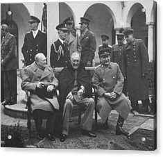 The Big Three -- Ww2 Leaders Acrylic Print by War Is Hell Store
