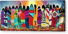The Blanket Dancers Acrylic Print by Anderson R Moore
