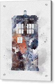 The Blue Box Acrylic Print by Rebecca Jenkins