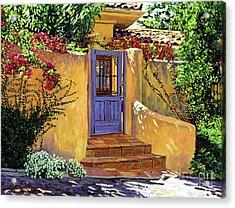 The Blue Door Acrylic Print by David Lloyd Glover