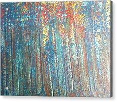 The Blue Forest Acrylic Print by Pradeep Gupta