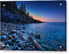 The Blue Hour On Little Hunter's Beach Acrylic Print by Rick Berk