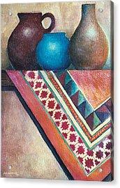 The Blue Jar IIi Acrylic Print by Jun Jamosmos