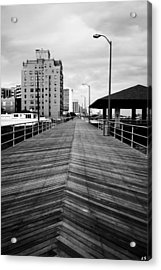 The Boardwalk Acrylic Print by Linda Sannuti