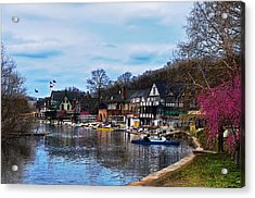 The Boat House Row Acrylic Print by Bill Cannon