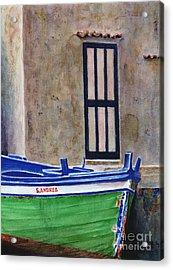 The Boat Acrylic Print by Karen Fleschler