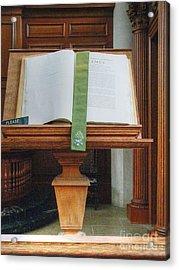 The Book Of James Acrylic Print by David Bearden