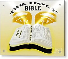 The Book Of Knowledge Acrylic Print by Belinda Threeths