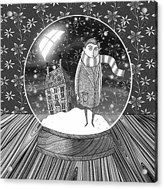 The Boy In The Snow Globe  Acrylic Print by Andrew Hitchen