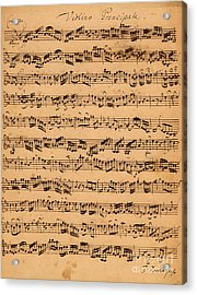 The Brandenburger Concertos Acrylic Print by Johann Sebastian Bach