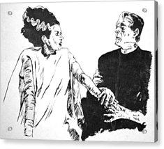 The Bride Of Frankenstein Acrylic Print by Bryan Bustard