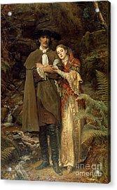 The Bride Of Lammermoor Acrylic Print by Sir John Everett Millais