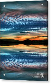 The Brush Strokes Of Evening Acrylic Print by Tara Turner