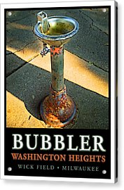 The Bubbler Acrylic Print by Geoff Strehlow