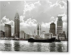 The Bund - Old Shanghai China - A Museum Of International Architecture Acrylic Print by Christine Till