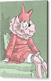 The Bunny Girl Acrylic Print by H James Hoff