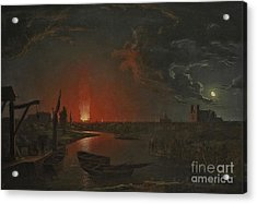 The Burning Of The Old Drury Lane Theatre Acrylic Print by MotionAge Designs
