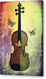 The Butterflies And The Violin Acrylic Print by Bill Cannon