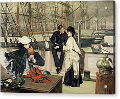 The Captain And The Mate Acrylic Print by Tissot
