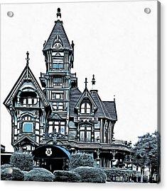 The Carson Mansion Acrylic Print by Edward Fielding