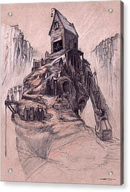 The Casket Maker's Shop  Acrylic Print by Ethan Harris