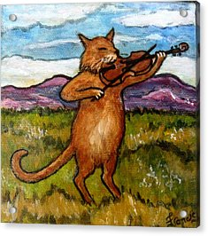 The Cat And The Fiddle Acrylic Print by Frances Gillotti
