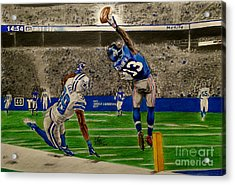 The Catch - Odell Beckham Jr. Acrylic Print by Chris Volpe