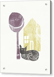 The Cat's House- Art By Linda Woods Acrylic Print by Linda Woods