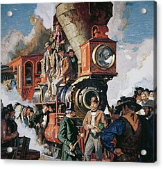 The Ceremony Of The Golden Spike On 10th May Acrylic Print by Dean Cornwall