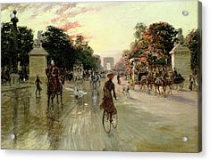 The Champs Elysees - Paris Acrylic Print by Georges Stein